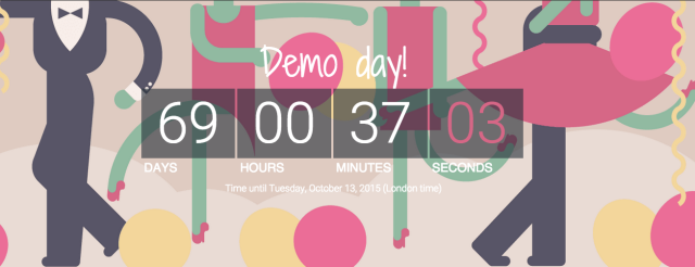Countdown to Demo day, countdown to party day!